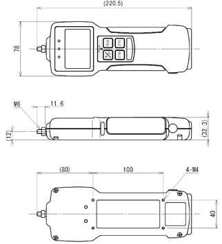 Z2系列多功能内置传感器推拉力计结构尺寸图