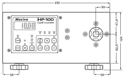 HP智能型数字扭力测试仪外形尺寸1