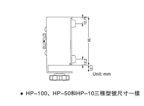 HP智能型数字扭力测试仪外形尺寸2