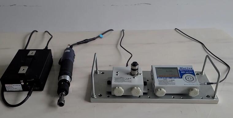 江西新能源客户采购Motive高精密扭力测试仪测量KILWES奇力速大扭力电动螺丝刀